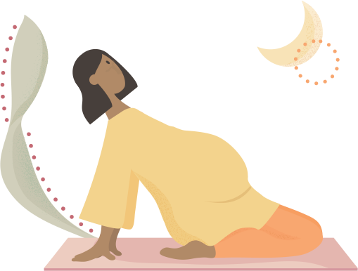 Pregnant lady doing yoga - graphic